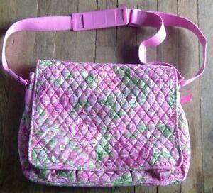 ✨ Vera Bradley PETAL PINK GIRL'S MESSENGER DIAPER BAG  MINT  NICE ✨