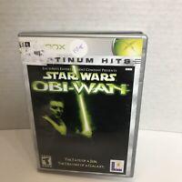 Star Wars Obi-Wan (Microsoft Xbox 2001) COMPLETE! PLATINUM HITS!