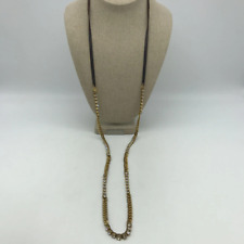Chan Luu Brown Leather CZ Necklace