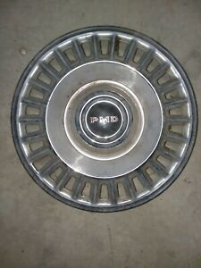 "OEM 1970s 1980s Mercedes Benz 14"" inch Vintage hubcap wheel cover hub caps cream"