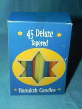 Biedermann and Sons Hanukah Candles, Set of 45, Assorted Rainbow, New in Box