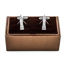 Empire State Cufflinks NYC New York Wedding Fancy Gift Box Free Ship USA
