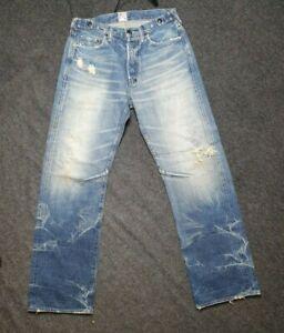 PRPS Jeans Dark Burner 32x32, Made in Japan, Distressed Jeans, Pre-Owned