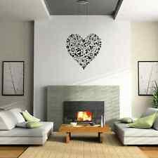 Flowers and birds love heart shape living room wall sticker - vinyl wall art