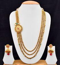 Indian Fashion Jewelry Designer Bridal Bollywood Ethnic Long Necklace Set