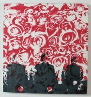 Gudrun Freder Drei weibliche Figuren mit Rosen Siebdruck Nessel signiert 1990
