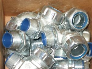 """Box of 10 T&B Thomas & Betts 5353 3/4"""" LiquidTight 90 Degree Insulated Connector"""