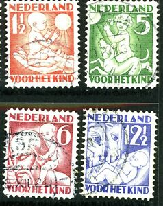 NETHERLANDS 1930 Child Welfare set used SG 388A-91A