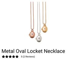Avon Metal Oval Locket with Necklace (rose gold)