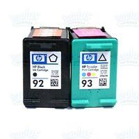 2pk Genuine HP 92/93 Black-Color Ink C3180 C3140 C3150 C3135 DeskJet 5420 5440