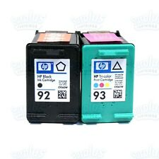 2pk Genuine HP 92/93 Black & Color Ink C3180 C3140 C3150 C3135 DeskJet 5420 5440