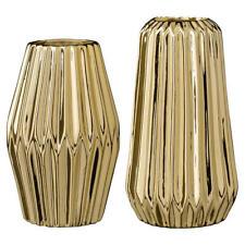 Bloomingville Vase Fluted Gold Porzellan 16 Cm Blumenvase