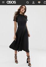 Asos Liquorish A line lace detail midi dress Size 6