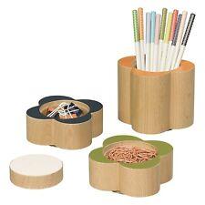 Orla Kiely Wooden Flower Desk Pots