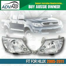 Pair of Head Lights Left & Right to suit Toyota Hilux SR SR5 2005-2011 Lights