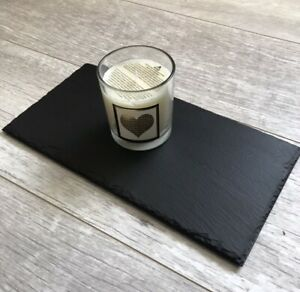 Handmade Slate Trivet Candle Placemat Candle Display Board 15x30cm