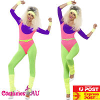 Womens 80s 1980s Aerobics Workout Costume Retro Gym Work Out Physical Fitness