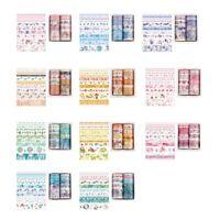 10Pcs/Set Decorative Kawaii Washi Tape Set Japanese Paper Stickers Japanese X9G2
