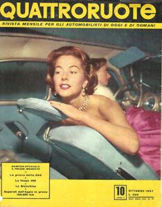rivista QUATTRORUOTE Nr. 10 ottobre 1957 - Editoriale Domus