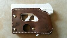 Ruger LCP 2 Secound Generation Pocket Holster Wallet Shoot Thru Brown Leather