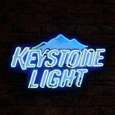 "New Keystone Light Mountain Beer Bar Neon Light Sign 24""x20"""
