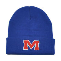 NCAA Mississippi Rebels Ole Miss Cuff Gilbert Blue Knit Beanie Toque Hat Winter