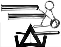 New Chrome Olympic Weight Adapter Sleeves & Collars Bar Multi Gym