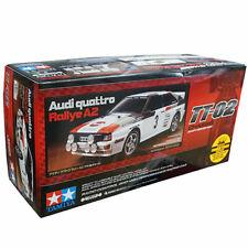 Tamiya 1/10 TT02 Audi Quattro A2 4WD Shaft Drive Onroad RC Cars Kit w/ESC #58667