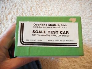 HO SCALE BRASS OVERLAND MODELS SCALE TEST CAR USED BY N&W, UP AND SP