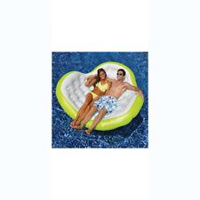 "Swimline 90525Sl 80"" x 75"" Double Comfort Rock & Rest Lotus Blossom- Green&White"