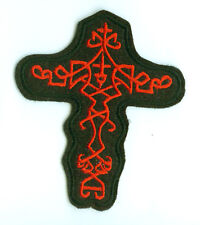 CRUCIFIX WITH CELTIC CROSS MALTESE CROSS IRON PATCH
