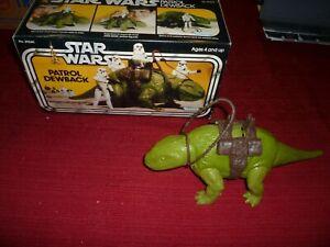 Star Wars Vintage Patrol Dewback in the Original Box, Super Nice!
