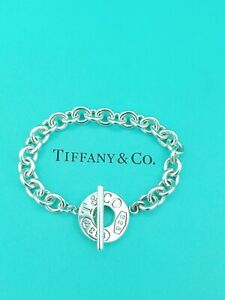 """Authentic Tiffany & Co 1837 Silver Toggle Bracelet 7.25"""" Great Condition"""