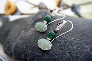 HANDMADE! Jade Earrings 10145