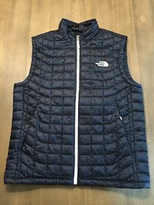 Mens The North Face STOW Pocket Nylon Thermoball Vest Size Med EUC No Flaws