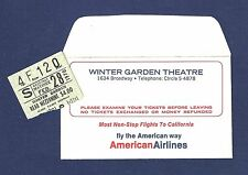 "Dilys Watling ""GEORGY"" Carole Bayer (Sager) 1970 FLOP Envelope and Ticket Stub"