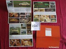 N°4526 / petit catalogue gamme RENAULT 1972   R4/R6/R12/R12 gordini/R15/R16/R17