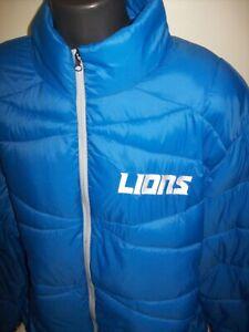 DETROIT LIONS NFL Puffer Pack It Blitz Jacket  MEDIUM, 4XL  BLUE
