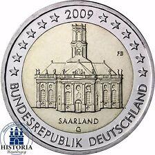 Saarland Ludwigskirche 2 Euro Deutschland 2009 bankfrisch Mzz. G