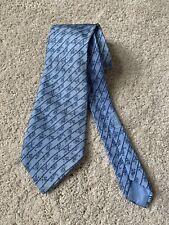 Hermes Paris Blue Monkey Tie Model 5417 OA