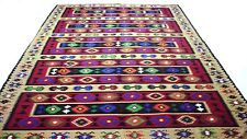 "Antique Vintage Tribal Handmade Hand-Knotted Soft Rug  94"" x 139"" pure wool  #24"