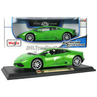 NEW Maisto Special Edition Die Cast Car Green Sport LAMBORGHINI HURACAN LP 610-4
