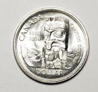 Canada 1958 Silver $1.00 One Dollar Coin