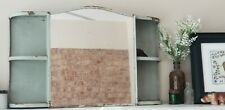 ART DECO METAL & MIRROR MEDICINE WALL CABINET  SIDE SHELVES MCM mid century