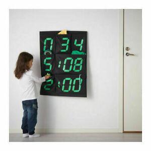 Ikea Gissa Hanging Wall Pockets Storage Black Green Scoreboard Numbers Kids NEW