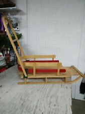 LL Bean Kids' Pull Sled and with Push Handle Small VG Condition