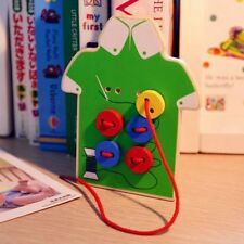 Lacing Board Wooden Toy Kids Toys Puzzles Teaching Aids Toddler Sew On Buttons