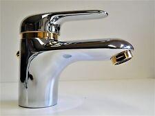 Robinet de lavabo chrome / doré ( 24 carat ),Mitigeur à levier