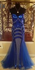 NEW JOVANI 153050 ROYAL BLUE LONG PAGEANT COCKTAIL EVENING FORMAL GOWN DRESS