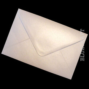 50 x C6 A6 Oyster White Shimmer Pearlescent Premium Wedding Invite Envelopes